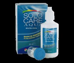 SOLO CARE AQUA Reisepack (1x90ml + 1 antibakterieller Becherbehälter)